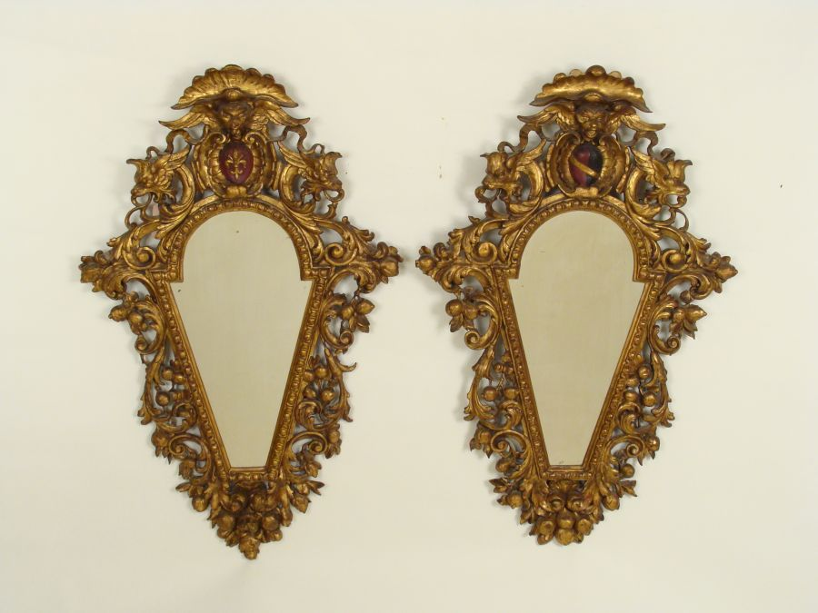 cabinet lights pair of italian gilt wood mirrors nicholson antiques 12951