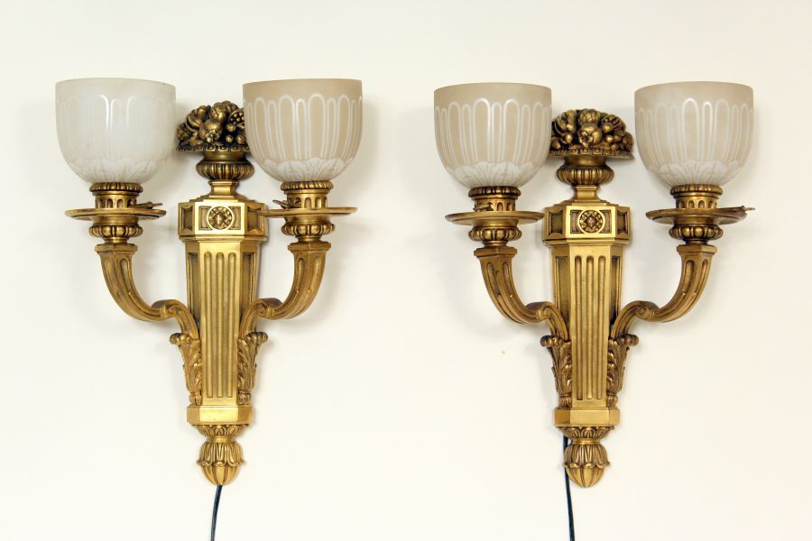 Pair Of Louis Xiv Style Gilt Bronze Wall Sconces Nicholson Antiques
